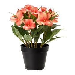 FEJKA artificial potted plant, Touch-me-not orange
