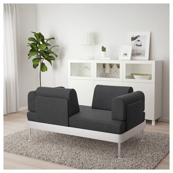 DELAKTIG 2er Sofa Hillared anthrazit IKEA