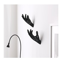 OMEDELBAR wall decoration, black