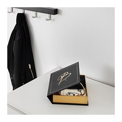 OMEDELBAR decoration box, black