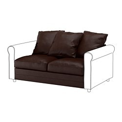 GRÖNLID 2-seat section, Kimstad dark brown