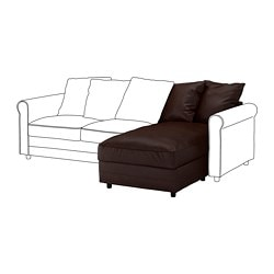 GRÖNLID chaise longue section, Kimstad dark brown