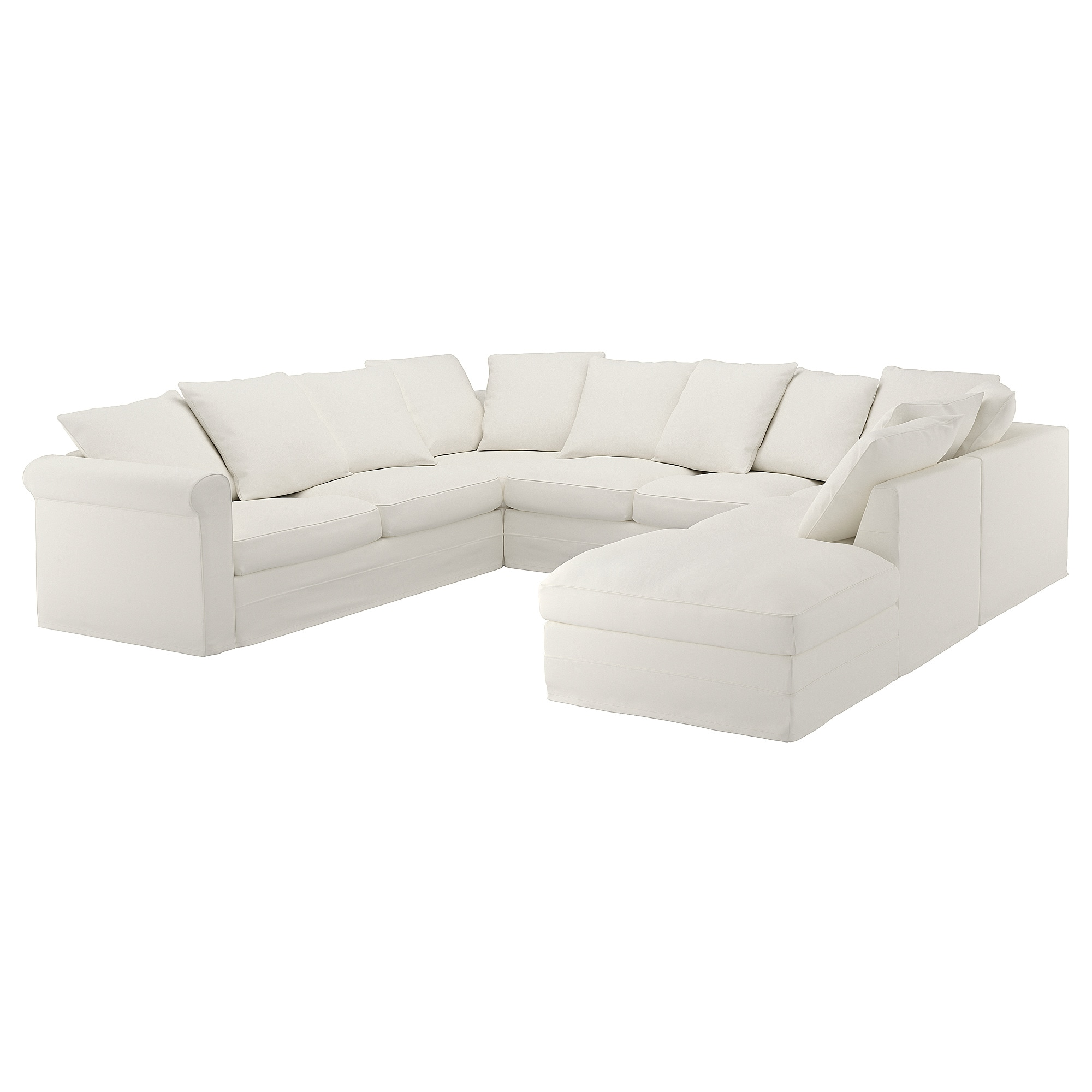 Gronlid U Shaped Sofa 6 Seat With Open End Inseros White Ikea