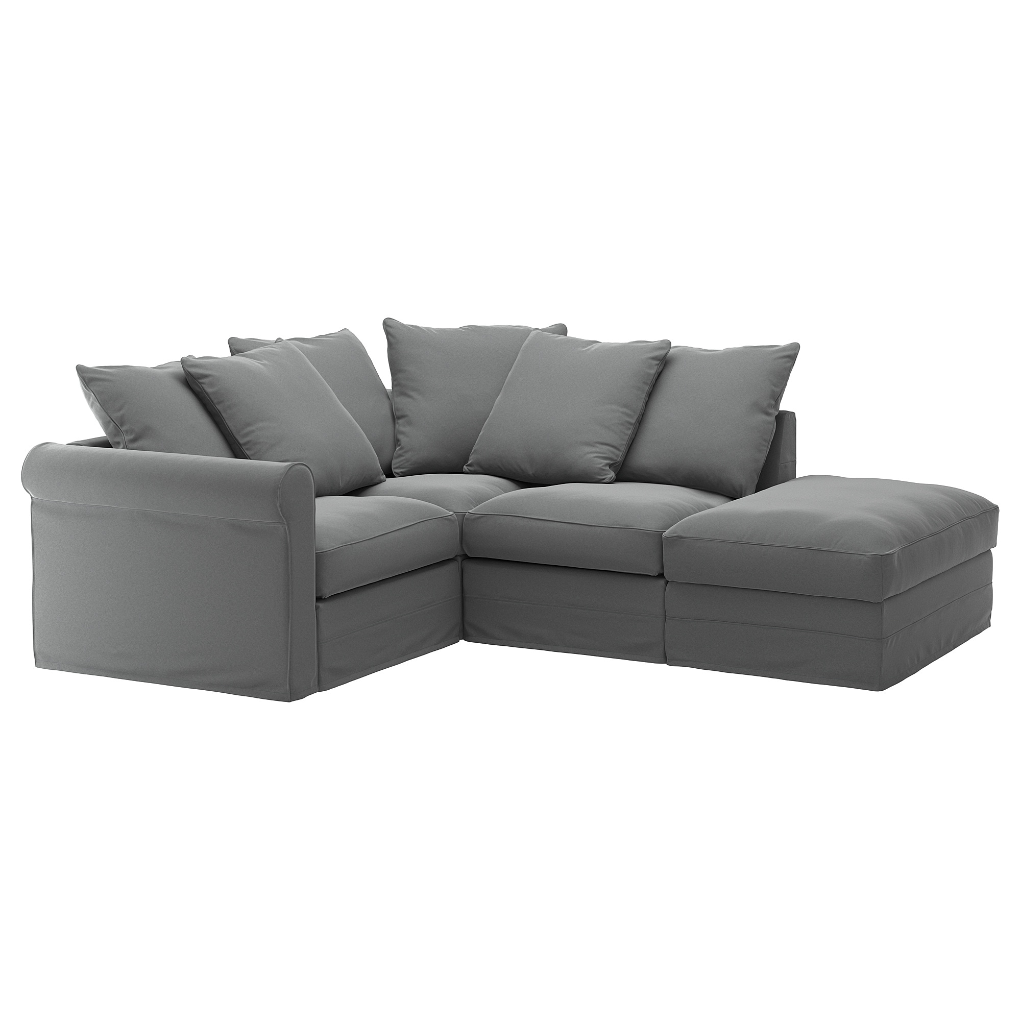 GRNLID Sectional 3 seat corner with open
