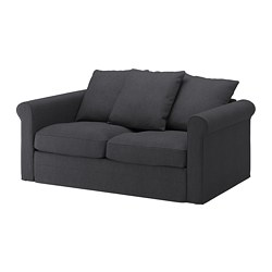 GRÖNLID loveseat, Sporda dark gray