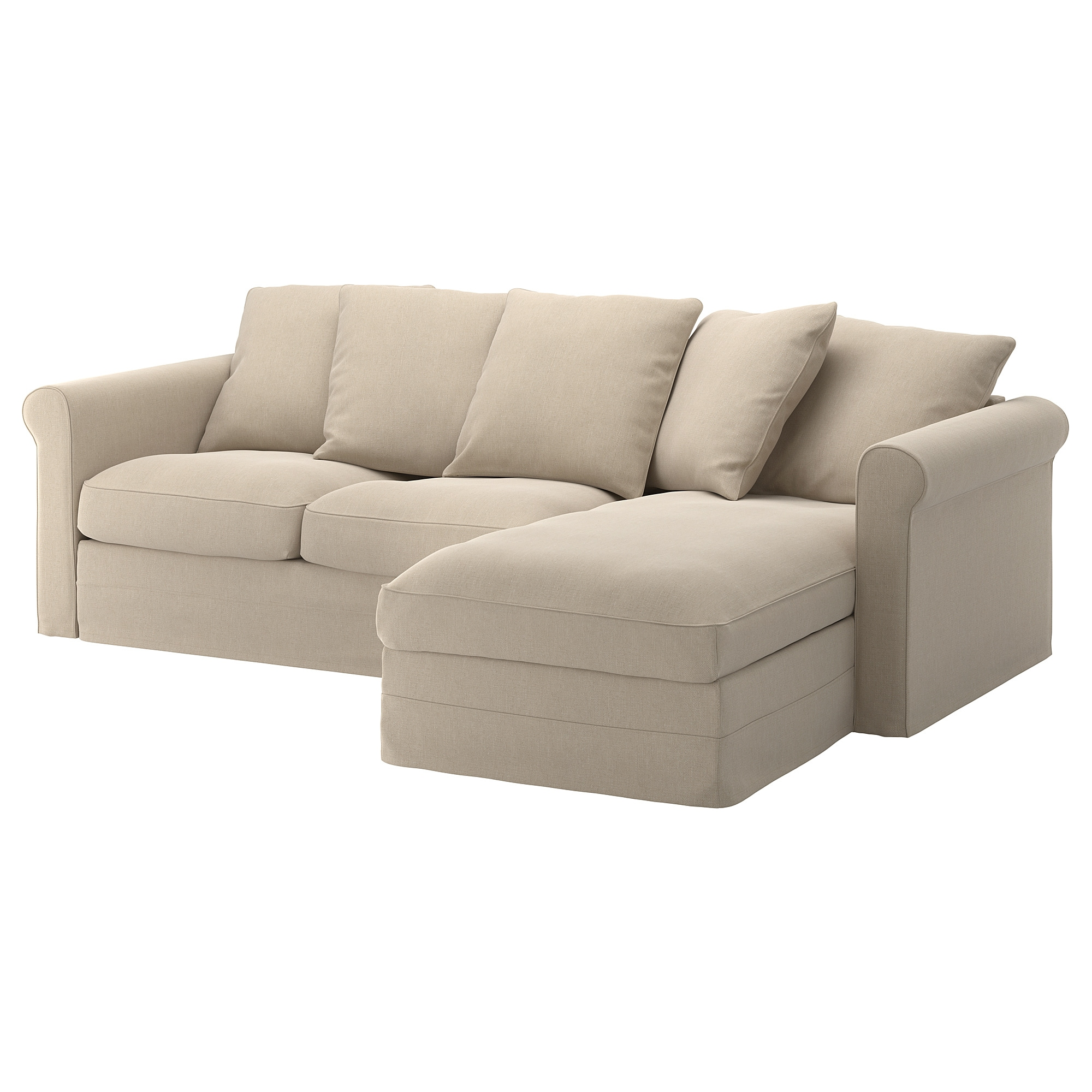 3 Seat Sofa GrÖnlid With Chaise Longue Sporda Natural