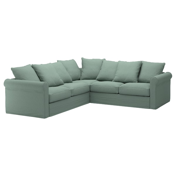 groenlid corner sofa  seat tallmyra light green ikea