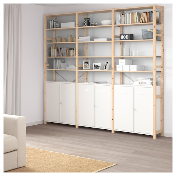 ivar schrank mit t ren wei ikea. Black Bedroom Furniture Sets. Home Design Ideas