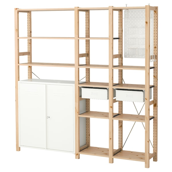 ivar 3 elem schrank kommode kiefer wei ikea. Black Bedroom Furniture Sets. Home Design Ideas