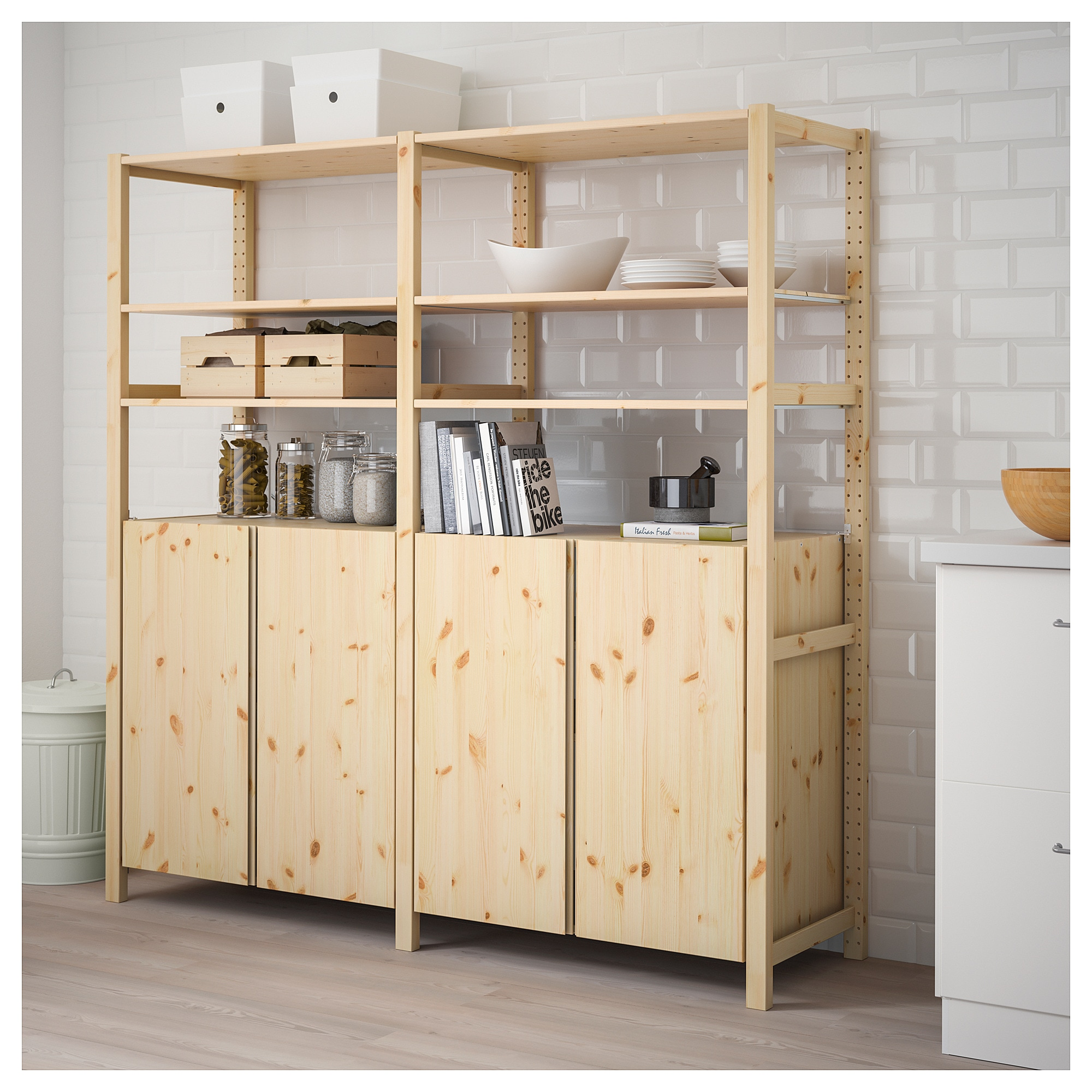 online store 6aeae 49228 IVAR 2 section shelving unit w/cabinet, pine
