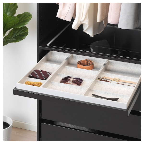 Pull-out tray with insert KOMPLEMENT black-brown