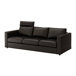 VIMLE sofa, with headrest, Farsta black