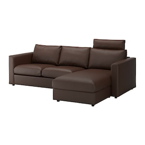 Cover: With chaise with headrest/farsta dark brown.