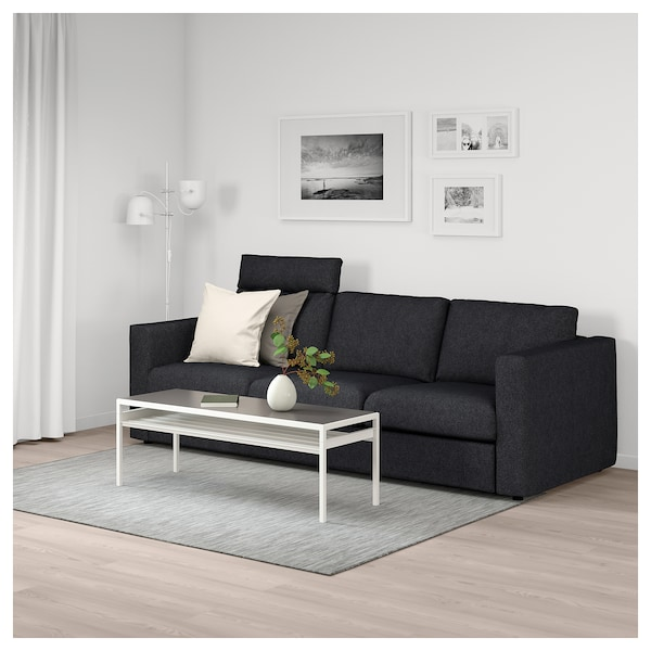 Vimle 3 Seat Sofa With Headrest Tallmyra Blackgrey Ikea
