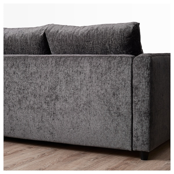 Friheten Corner Sofa Bed With Storage Dark Grey Ikea