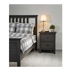 HEMNES Bed frame, gray dark gray stained - Queen - - - dark gray ...