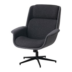 ÄLEBY swivel armchair, Gunnared medium grey, dark grey