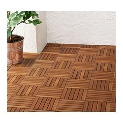RUNNEN floor decking, outdoor, light brown