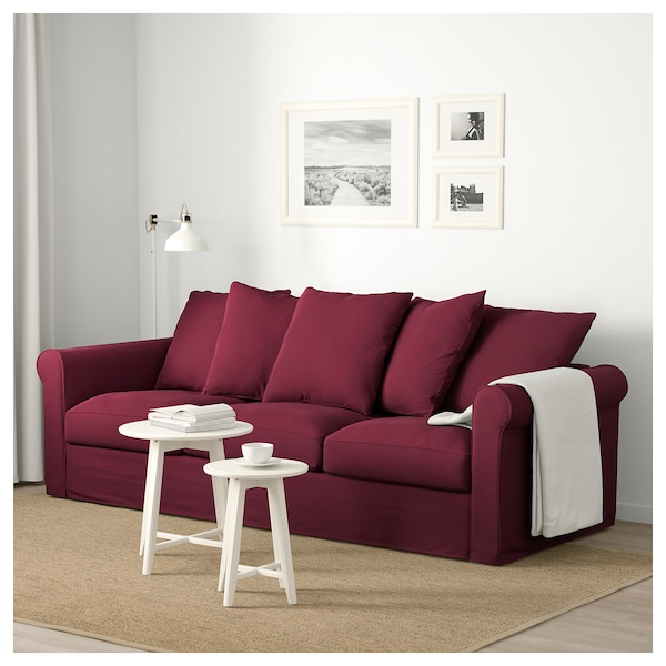 Sofa GRÖNLID Ljungen dark red
