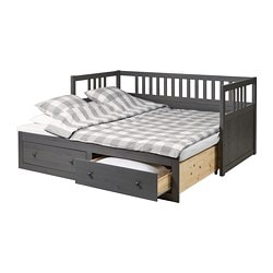 Captivating HEMNES Daybed With 2 Drawers/2 Mattresses, Gray Stained, Meistervik