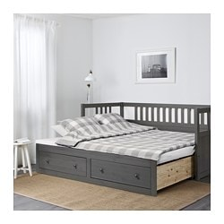 Good HEMNES Daybed Frame With Storage, Dark Gray Stained