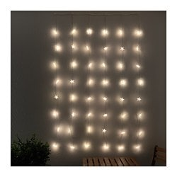STRÅLA LED lighting curtain with 48 lights, outdoor star