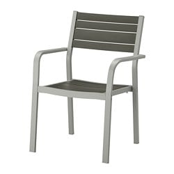 SJÄLLAND armchair, outdoor, light gray, dark gray