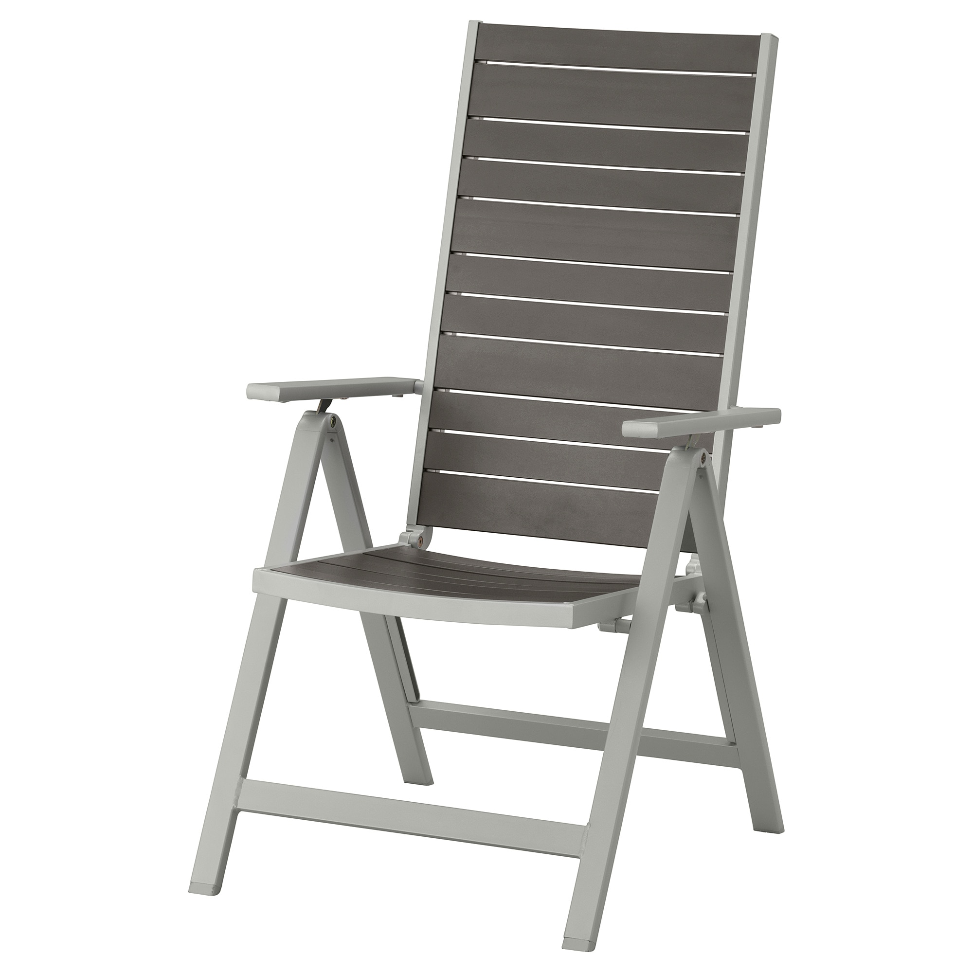 SjÄlland Reclining Chair Outdoor Light Gray Foldable Dark