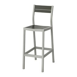 SJÄLLAND Bar stool with backrest, outdoor