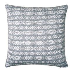ANTILOPÖGA, Cushion cover, gray, white