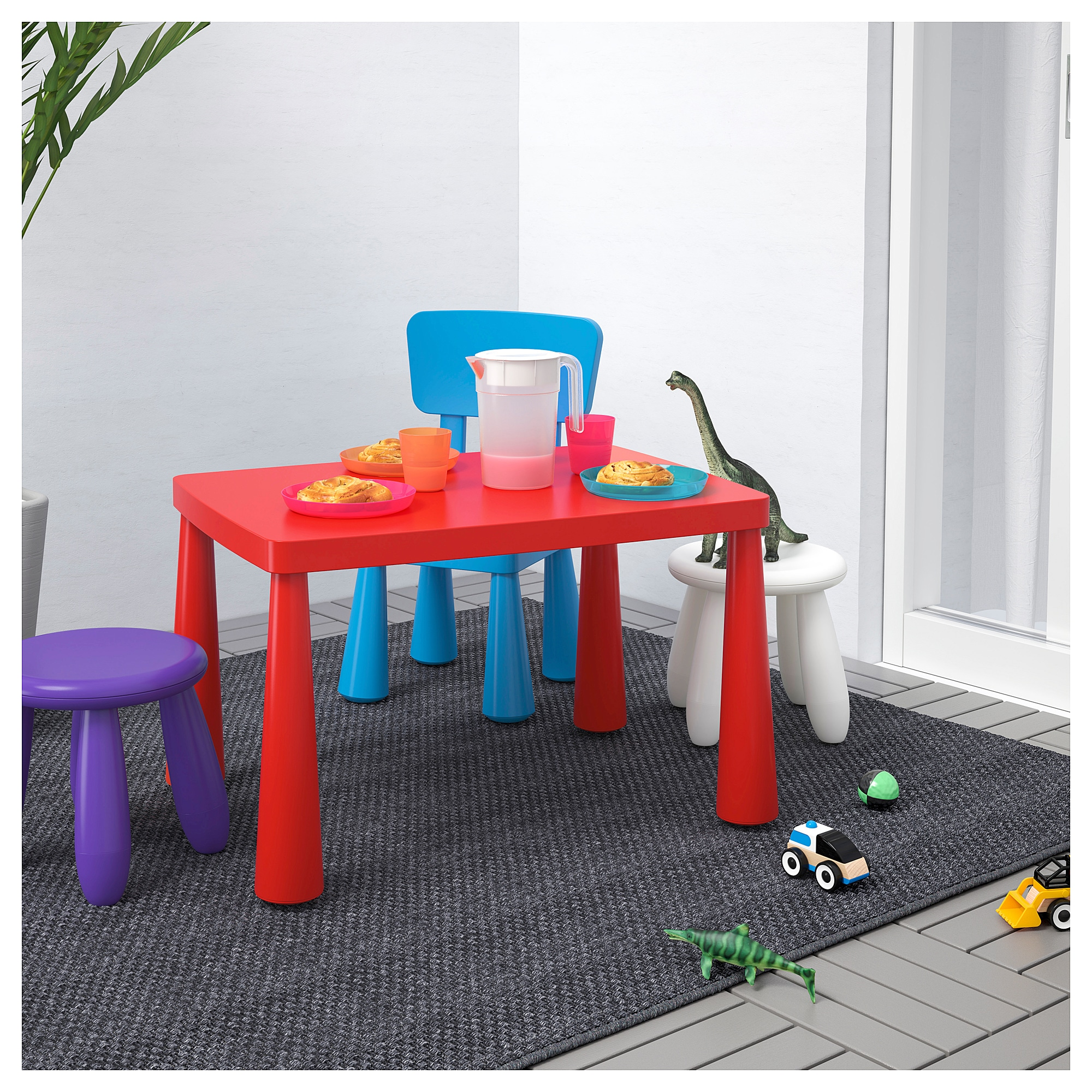 Mammut Children S Table In Outdoor Red Ikea