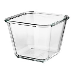 IKEA 365+ food container, square, glass