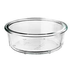 IKEA 365+ food container, round, glass