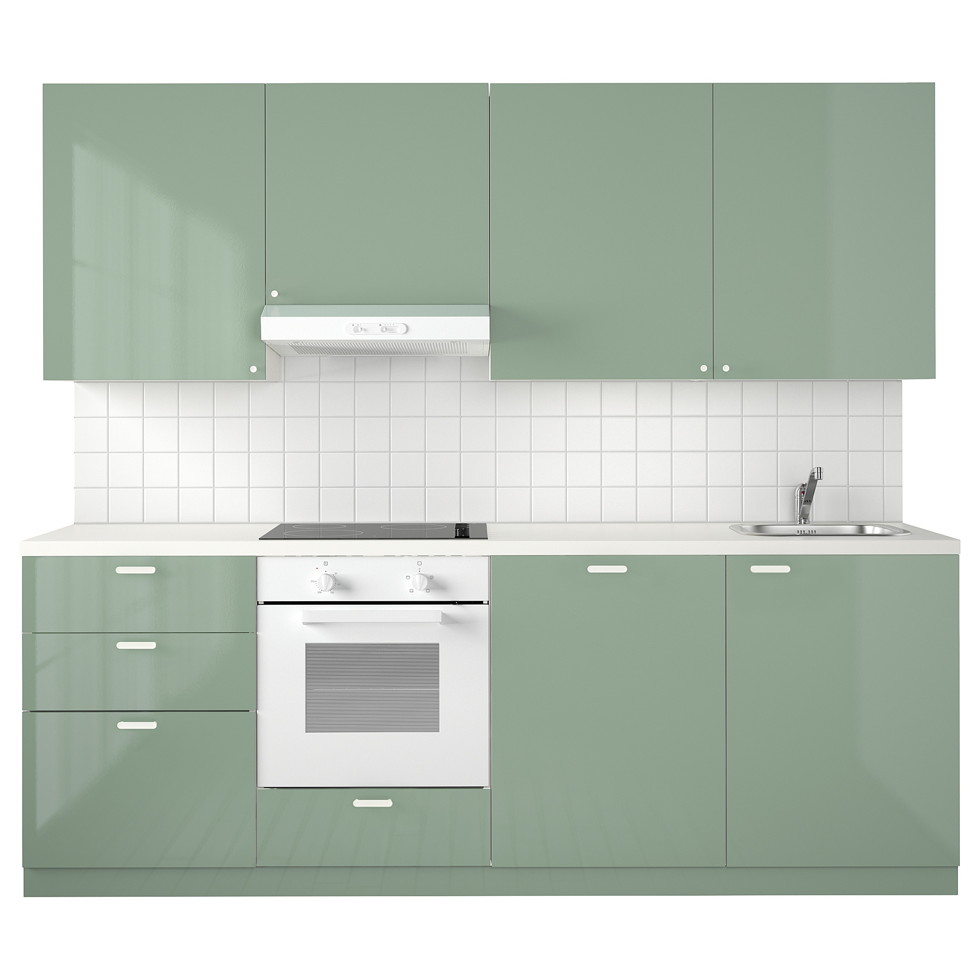 METOD Kitchen - white Maximera, Kallarp light green - IKEA