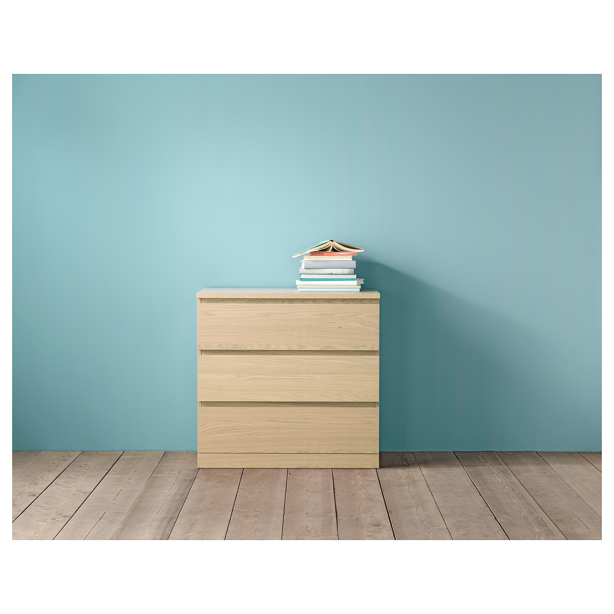 MALM 3-drawer chest - black-brown - IKEA