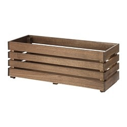 STJÄRNANIS flower box, outdoor, acacia