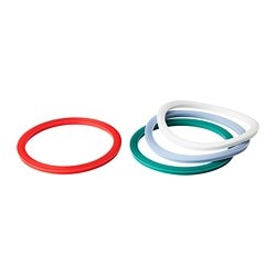 IKEA 365+ gasket, round, mixed colours