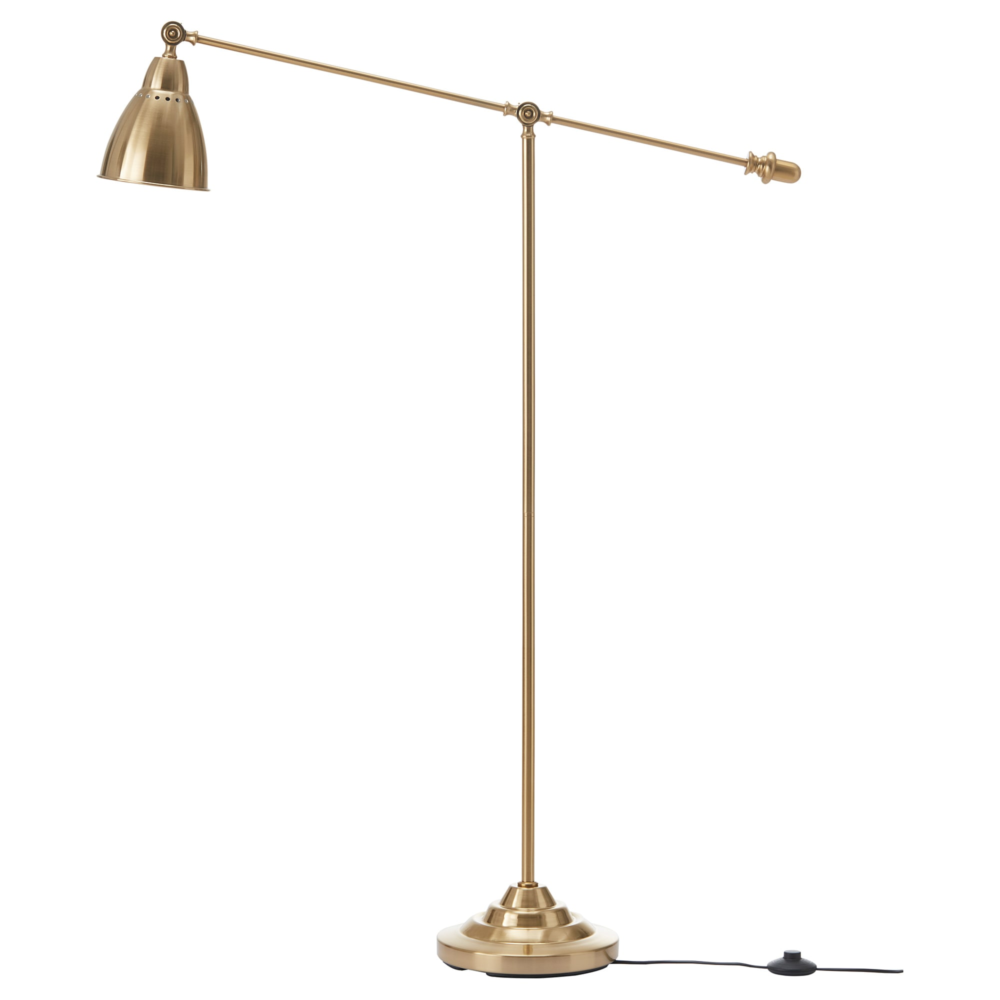 BAROMETER floor/reading lamp with LED bulb, brass color Max.: 15 W