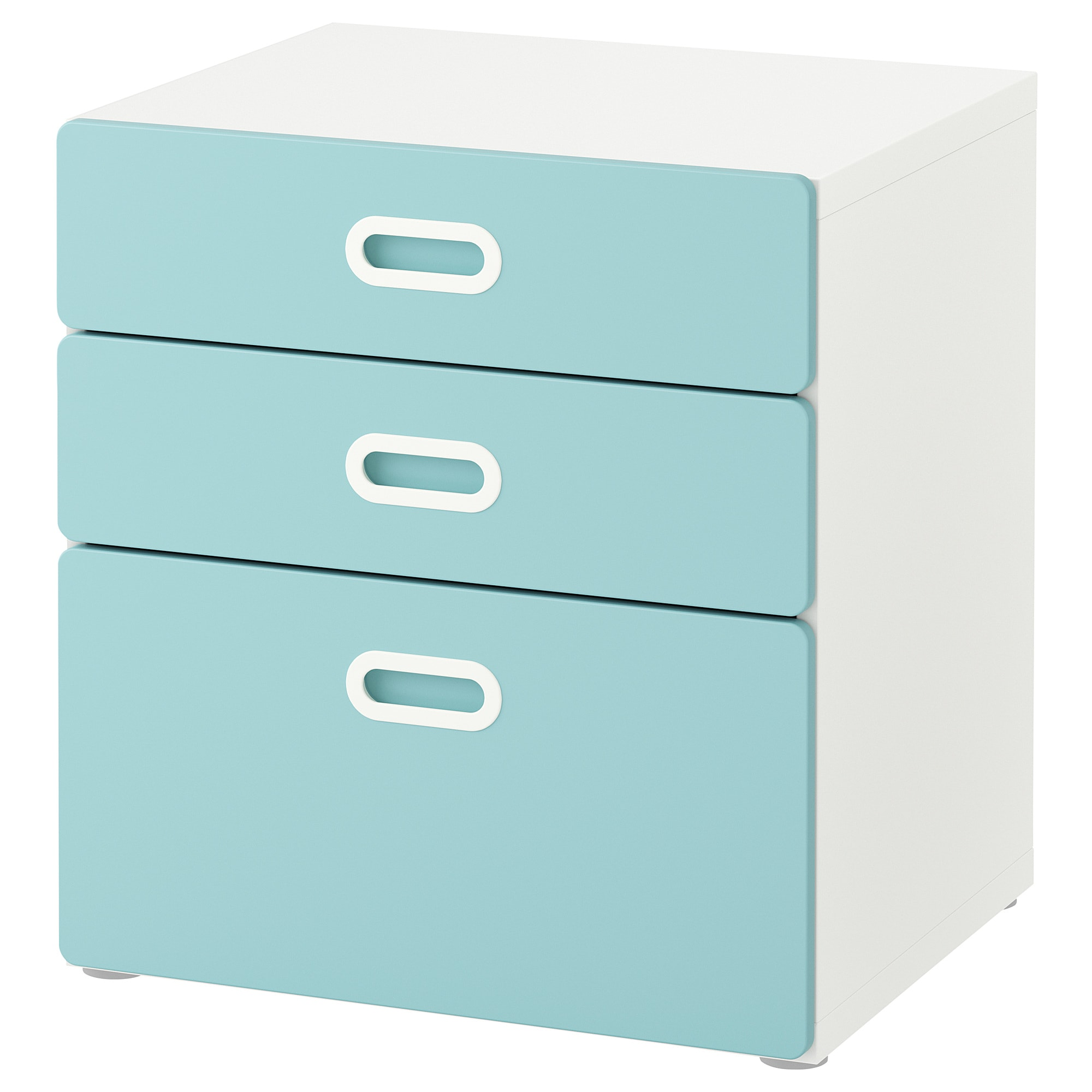 detailing 1c628 542f9 Chest of 3 drawers STUVA / FRITIDS white, light blue
