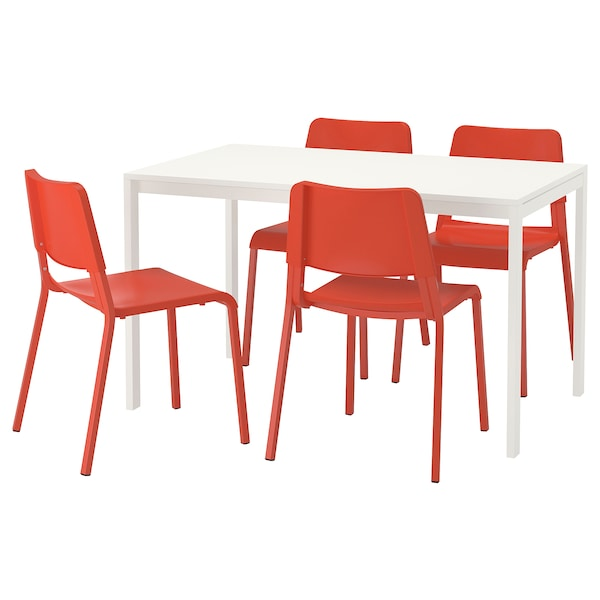 Orange Kitchen Table And Chairs: MELLTORP / TEODORES Table And 4 Chairs