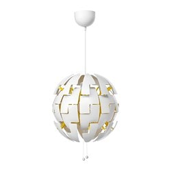 IKEA PS 2014 pendant lamp, white, yellow