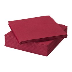 FANTASTISK, Paper napkin, dark red