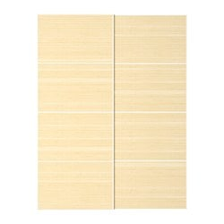 FJELLHAMAR pair of sliding doors, light bamboo