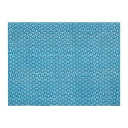 GALLRA, Place mat, blue, patterned