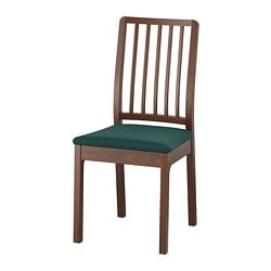EKEDALEN chair, brown, Gunnared dark green