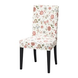 HENRIKSDAL chair, dark brown, Videslund multicolour
