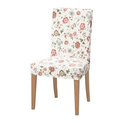 HENRIKSDAL chair, oak, Videslund multicolour