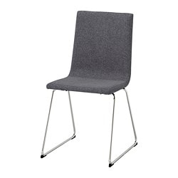 VOLFGANG chair, chrome-plated, Gunnared medium grey