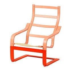 POÄNG Gestell Sessel, orange