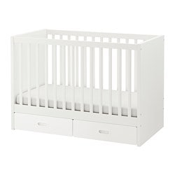 STUVA /  FRITIDS cot with drawers, white